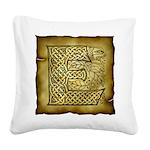 Celtic Letter E Square Canvas Pillow