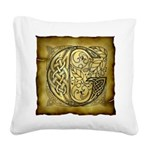 Celtic Letter G Square Canvas Pillow