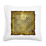 Celtic Letter H Square Canvas Pillow
