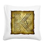 Celtic Letter K Square Canvas Pillow