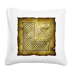 Celtic Letter L Square Canvas Pillow