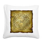 Celtic Letter O Square Canvas Pillow
