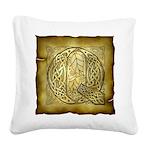 Celtic Letter Q Square Canvas Pillow