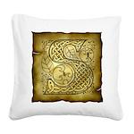 Celtic Letter S Square Canvas Pillow
