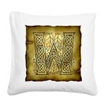 Celtic Letter W Square Canvas Pillow