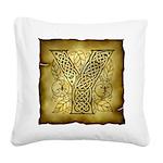 Celtic Letter Y Square Canvas Pillow