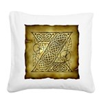 Celtic Letter Z Square Canvas Pillow