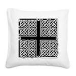 Celtic Square Cross Square Canvas Pillow