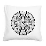 Celtic Dragons Square Canvas Pillow