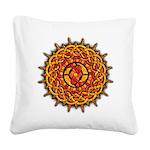 Celtic Sun Square Canvas Pillow