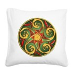 Celtic Pentacle Spiral Square Canvas Pillow