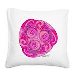 Celtic Pink Trispiral Square Canvas Pillow