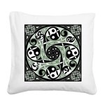 Celtic Spiral Stepping Stone Square Canvas Pillow