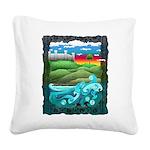 Celtic Castle Tor Square Canvas Pillow