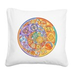 Celtic Crescents Rainbow Square Canvas Pillow