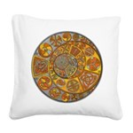 Celtic Crescents Square Canvas Pillow