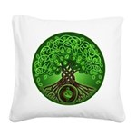 Circle Celtic Tree of Life Square Canvas Pillow