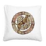 Celtic Dog Square Canvas Pillow
