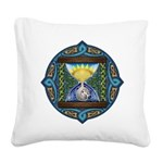 Celtic Sun-Moon Hourglass Square Canvas Pillow