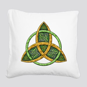Celtic Trinity Knot Square Canvas Pillow