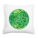 Celtic Triskele Square Canvas Pillow