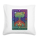 Celtic Tree of Life Square Canvas Pillow