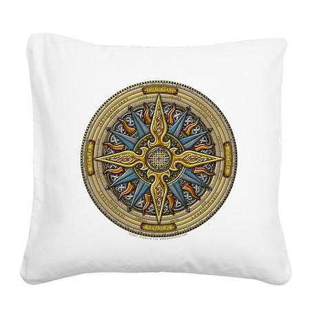 Celtic Compass Square Canvas Pillow