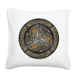 Bejeweled Celtic Shield Square Canvas Pillow