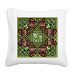 Celtic Dragon Labyrinth Square Canvas Pillow