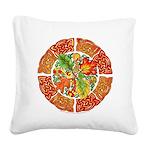 Celtic Autumn Leaves Square Canvas Pillow