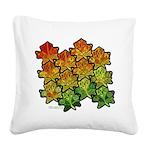 Celtic Leaf Tesselation Square Canvas Pillow