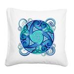 Celtic Planet Square Canvas Pillow