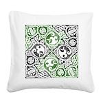 Celtic Knotwork Puzzle Square Square Canvas Pillow