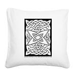 Celtic Knotwork Quasar Square Canvas Pillow