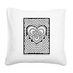 Celtic Knotwork Heart Square Canvas Pillow