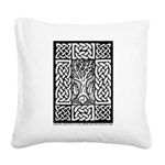 Celtic Knot Bare Branches Square Canvas Pillow