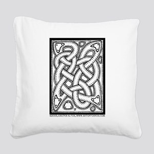 Celtic Knotwork Illustrated Square Canvas Pillow