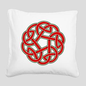 Celtic Christmas Knot Square Canvas Pillow