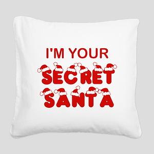 Secret Santa Square Canvas Pillow