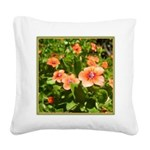 Scarlet Pimpernel Square Canvas Pillow