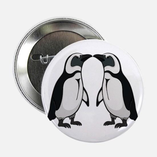 """Penguin Kiss 2.25"""" Button"""