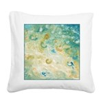 Sand and Surf Abstract Square Canvas Pillow