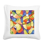 Carnival Balloons Abstract Square Canvas Pillow