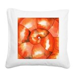 Shell Shock Watercolor Square Canvas Pillow
