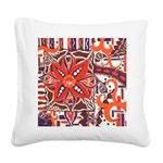 Poinsettia Power Square Canvas Pillow