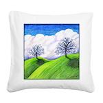 California Spring Square Canvas Pillow