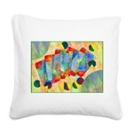 Poker Abstract Watercolor Square Canvas Pillow