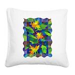 Leaf Mosaic Square Canvas Pillow