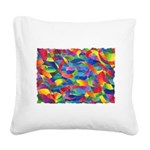 Cosmic Ribbons Square Canvas Pillow