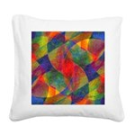 Worlds Within Worlds Abstract Square Canvas Pillow